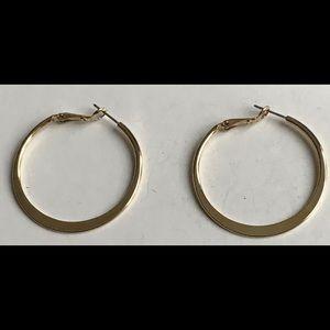 Lia Sophia Women Gold Hoop Earrings Post Pierced
